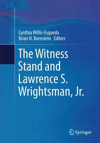 The witness stand and Lawrence S. Wrightsman, Jr.