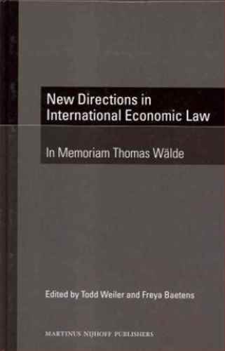 New Directions in International Economic Law