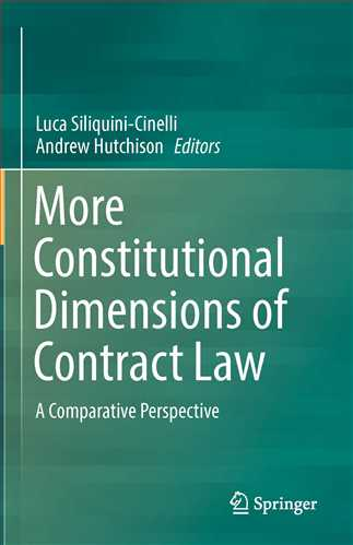 More Constitutional Dimensions of Contract Law