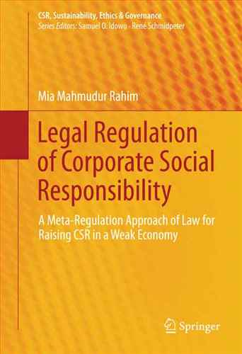 Legal Regulation of Corporate Social Responsibility