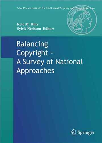 Balancing copyright : a survey of national approaches