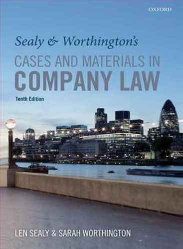 Sealy and Worthingtons cases and materials in company law